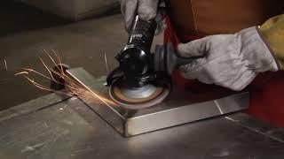 Nerūdijančio plieno apdirbimas su 3M Cubitron gaminiais.
